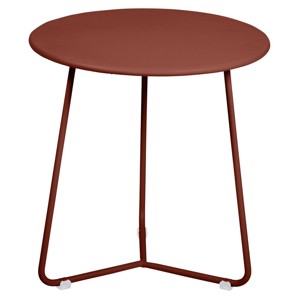 Fermob Cocotte Outdoor Small Side Table in Red Ochre