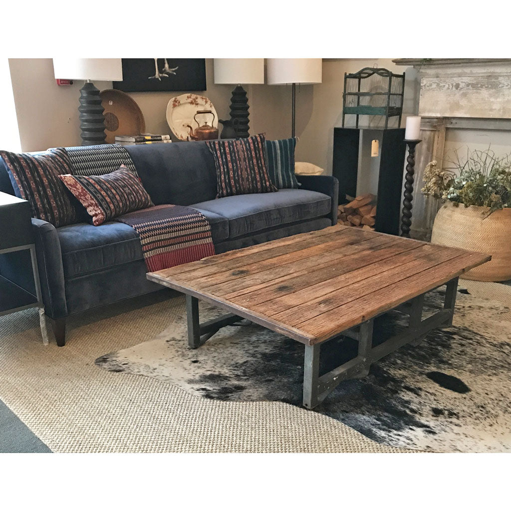 One of a Kind Metal and Wood Coffee Table By Cisco Home