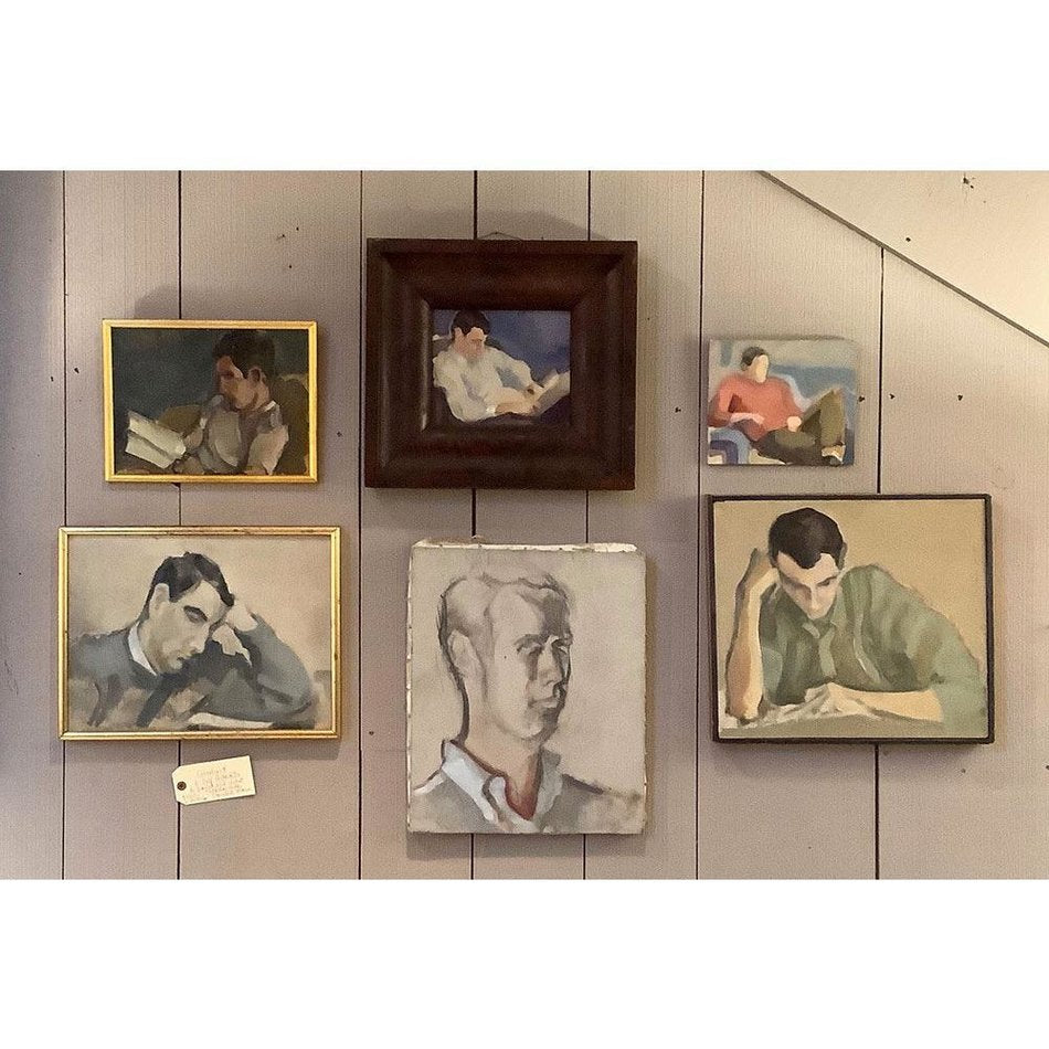 Collection of 6 Paintings Self Portraits by Pianist and Artist Nicholas Hubby