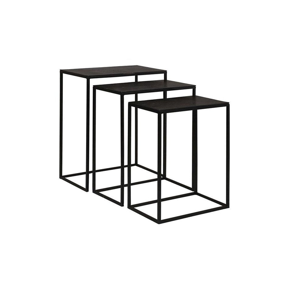 Colleen Iron and Aluminum Nesting Tables - Set 3