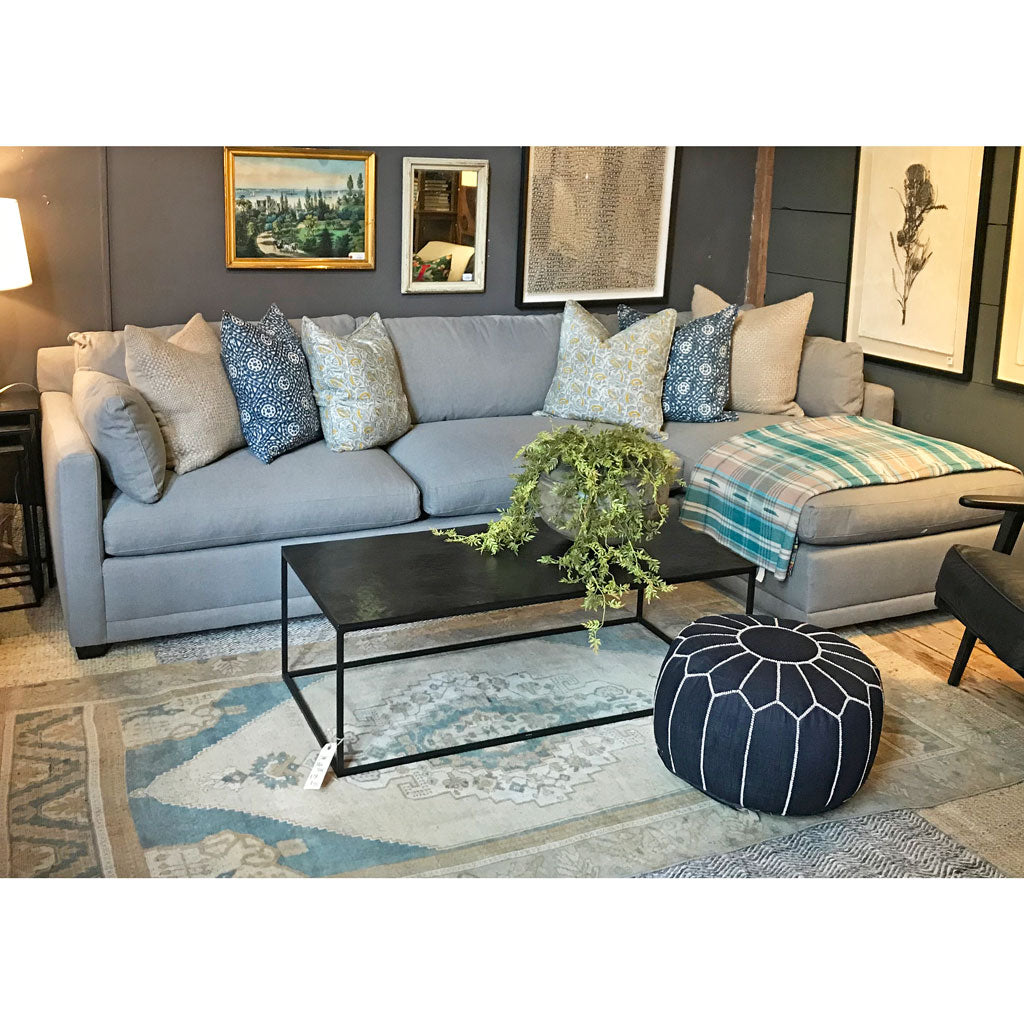Cornelia Sectional Upholstered in Mushroom w/ Down Blend Cushions