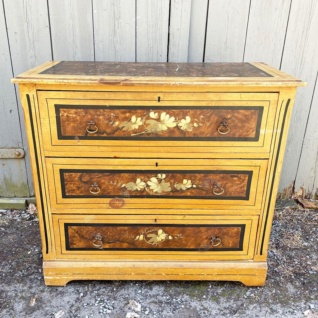 Cottage Pine Chest; Circa 1800's