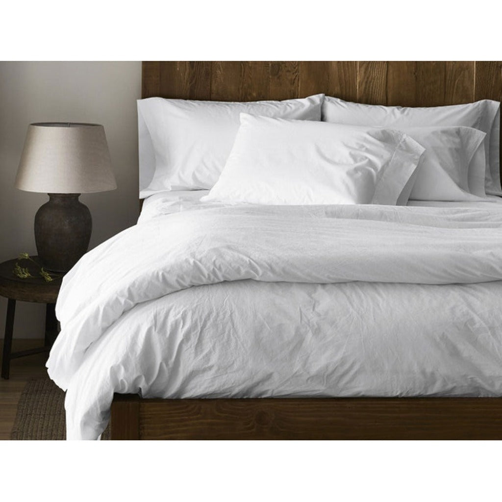 300 Thread Count Organic Percale Sheets in Alpine White by Coyuchi