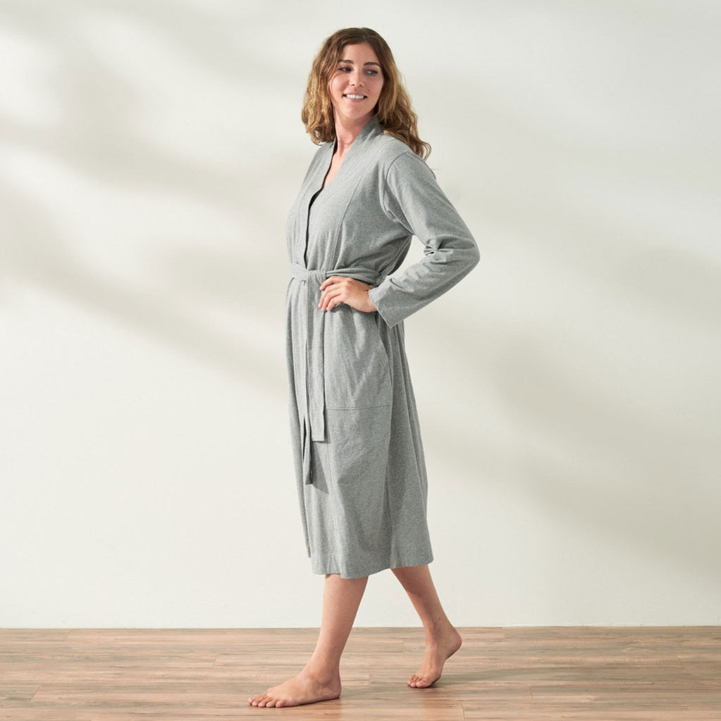 Women's Solstice Organic Relaxed Robe in Grey Heather