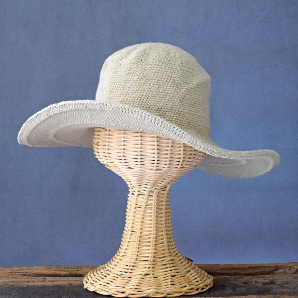 Crochet Sun Hat in Tan