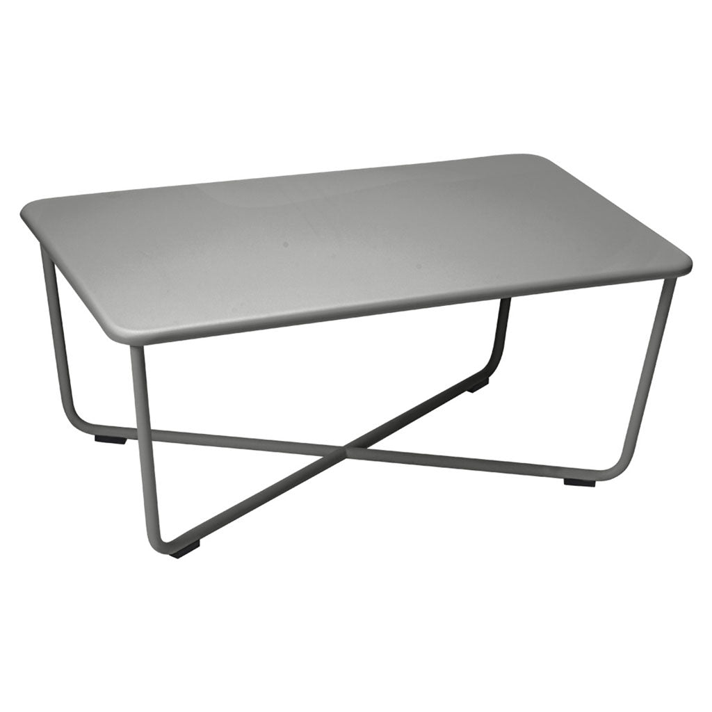 Fermob Croisette Outdoor Low Table in Liquorice
