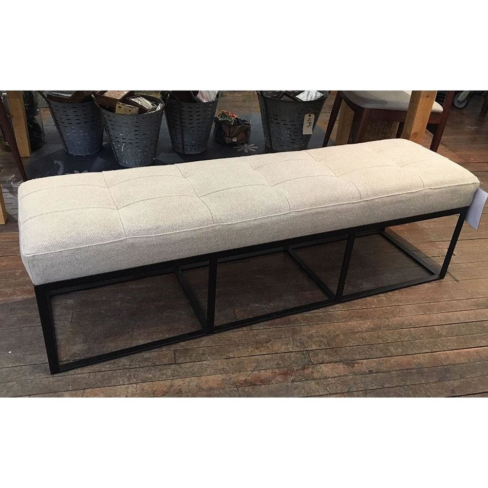 "Cruz 60"" Bench in Lan Oatmeal by Cisco Home"