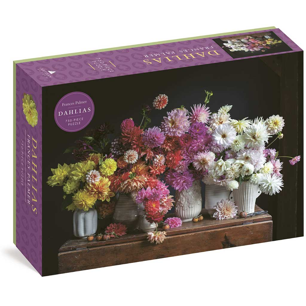 Dahlias 750 Piece Puzzle by Frances Palmer
