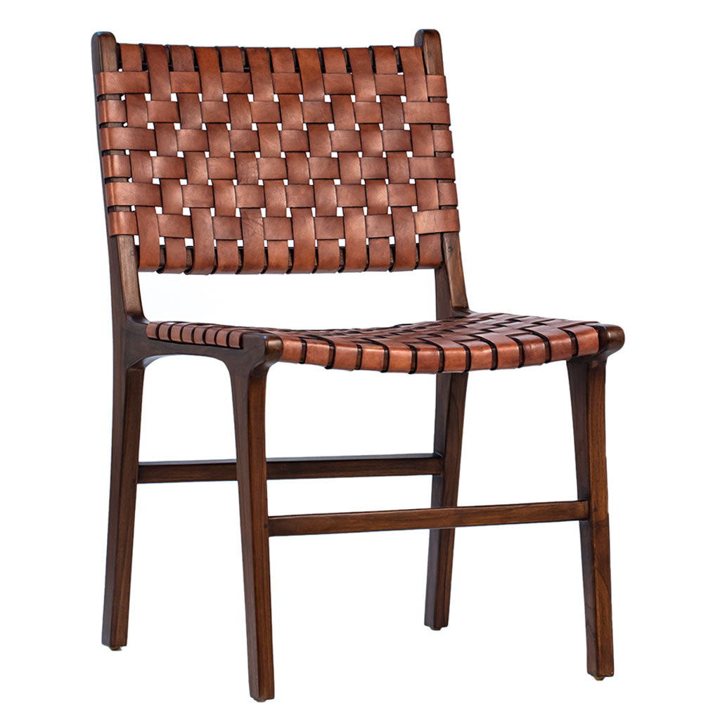 Daniel Teak and Leather Dining Chair