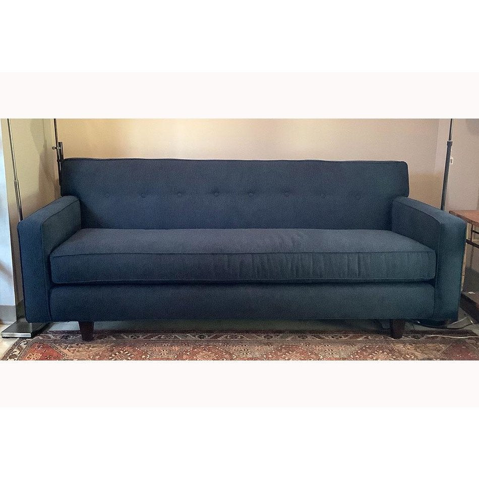 "Darby 80"" Queen Sleeper Sofa in Indigo w/ Bench Seat"