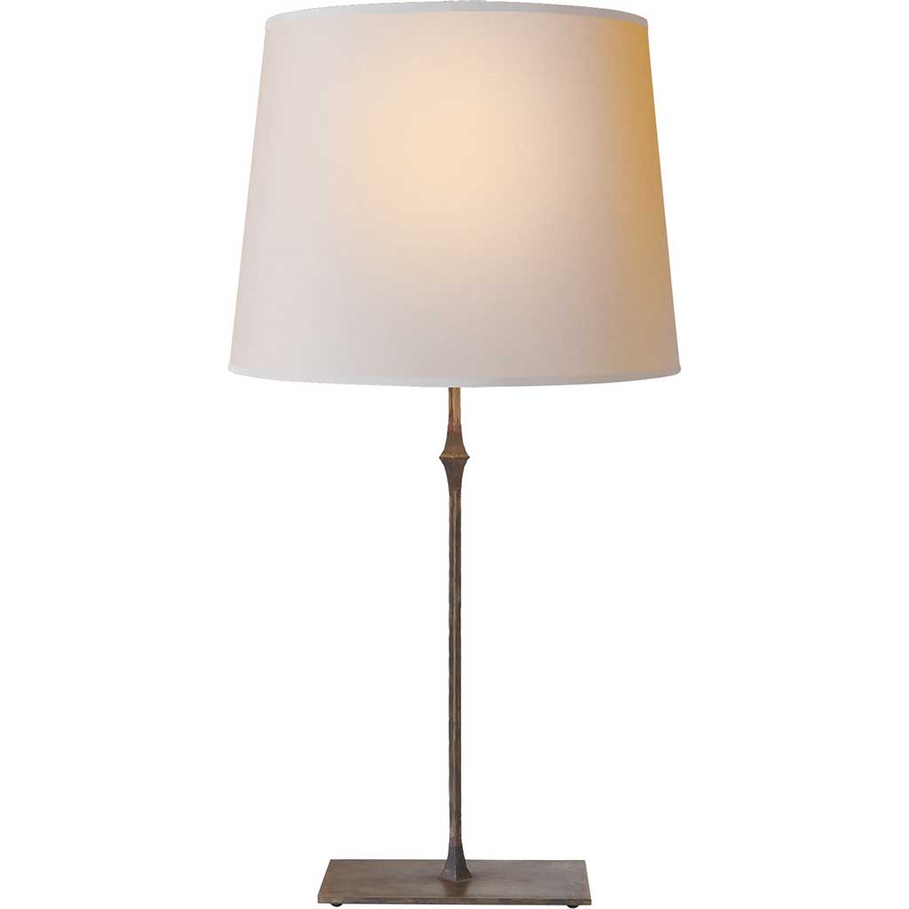 Dauphine Table Lamp in Aged Iron