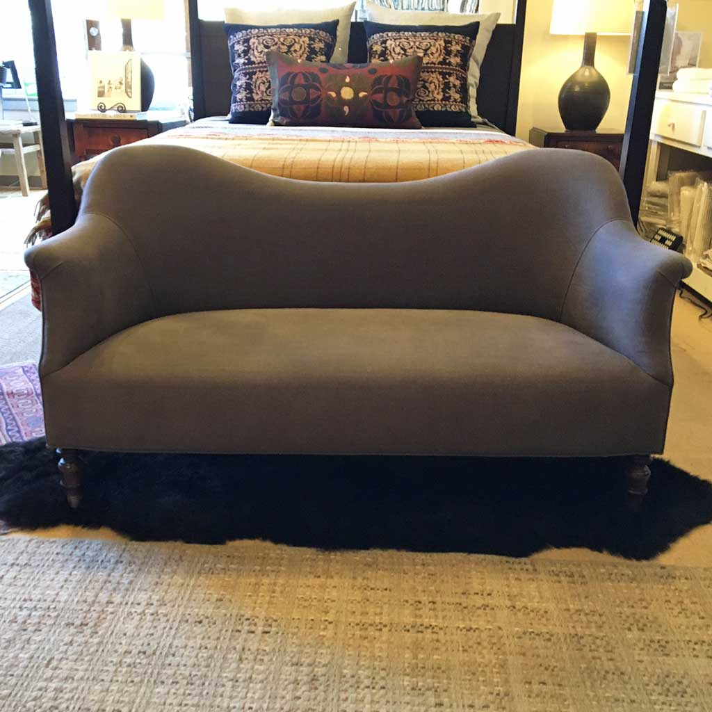 Dromedary Loveseat in Vintage Steel by John Derian For Cisco Home
