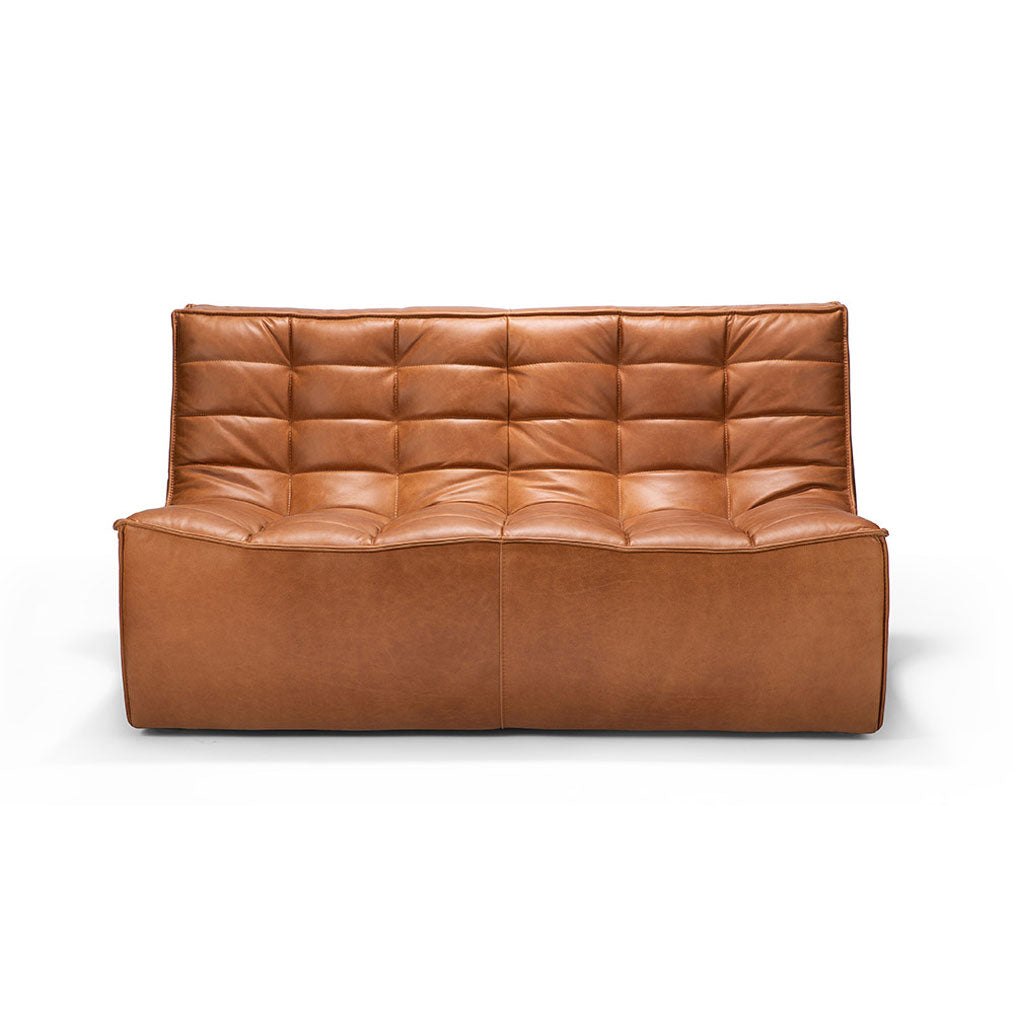 Ethan Leather Two Seater Sofa in Old Saddle by Ethnicraft