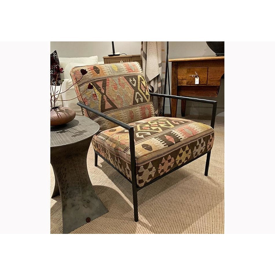Evans Chair in an Antique Rug by Lee Industries