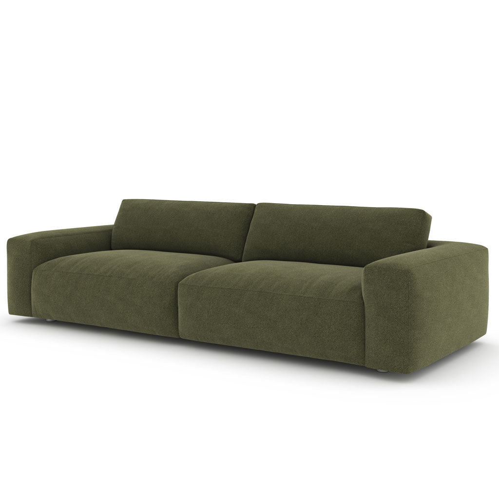 "Felix 98"" Sofa in Montford Emerald w/ Down Blend Cushions"