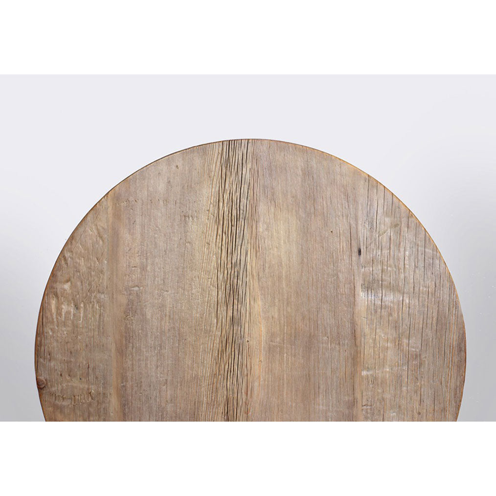 "Reclaimed Wood Folding 29.5"" Round Table"