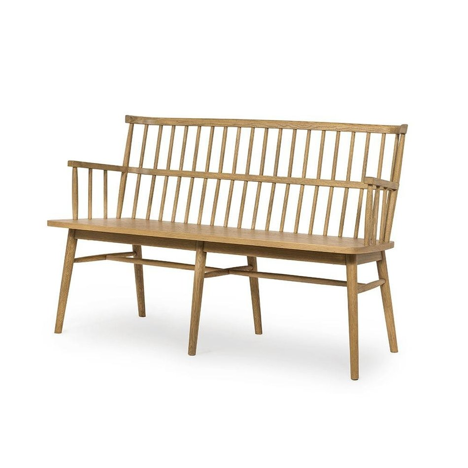 Heike Bench in Sandy Oak