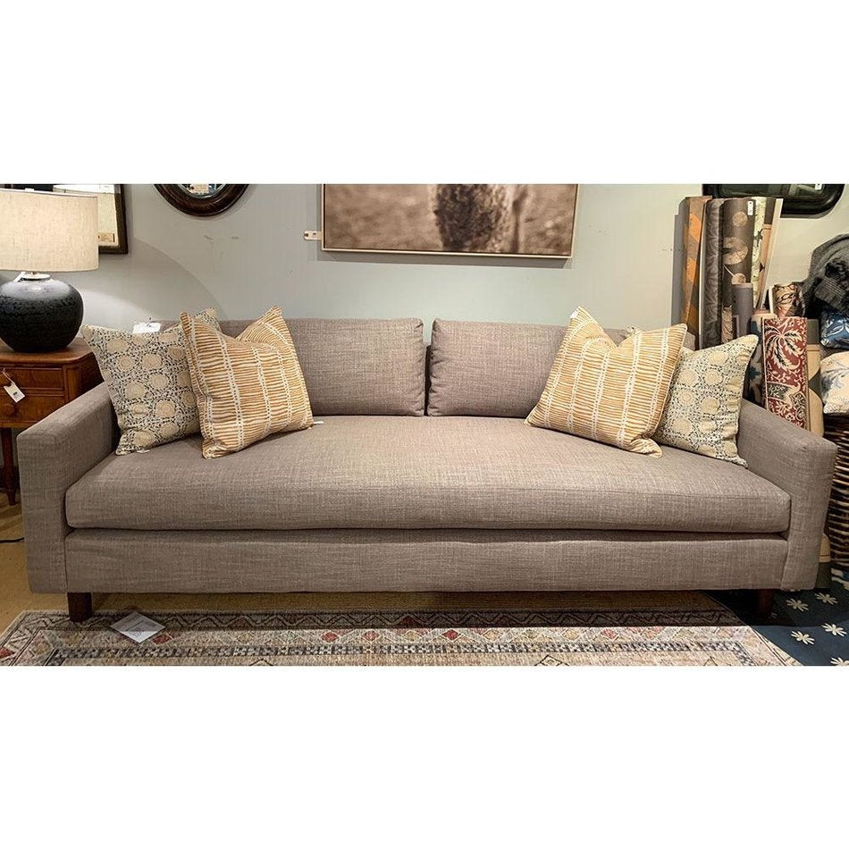 "Hunter 90"" Sofa in Fulmer Earth w/ Bench Seat by MGBW"