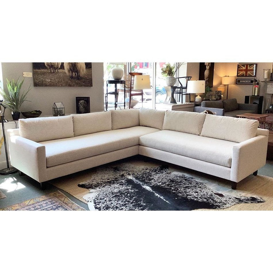 Hunter Sectional in Fulmer Linen w/ Bench Seat by MGBW