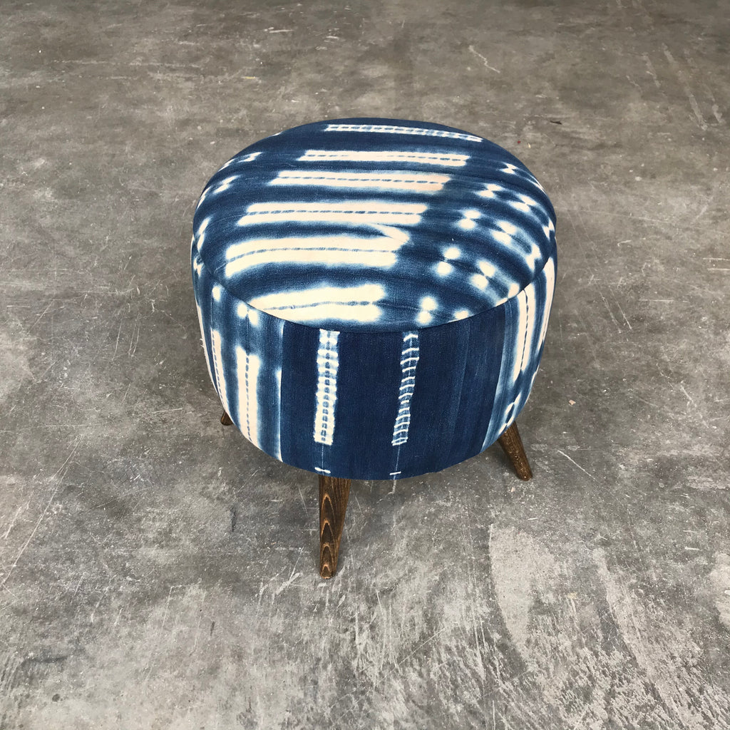 Vintage Mud Cloth Stool Ottoman 0920-J