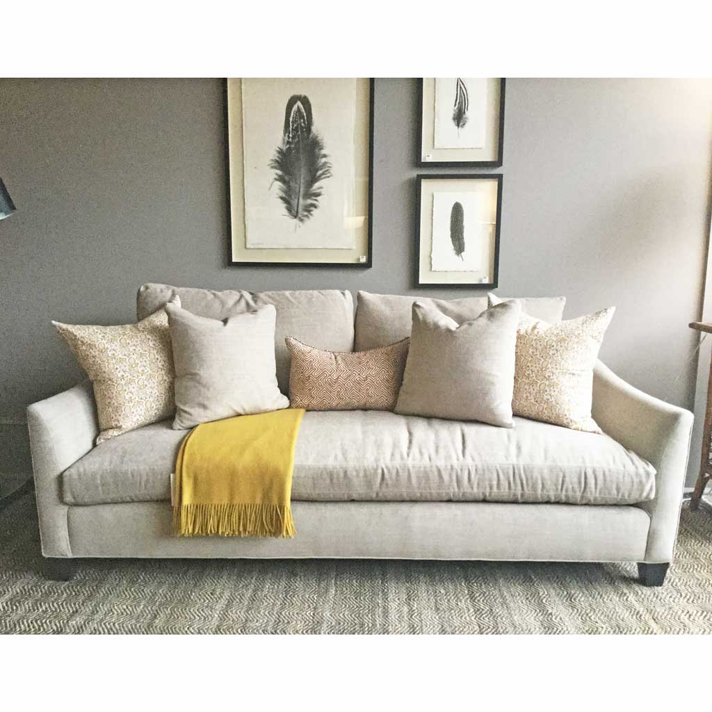 Iris Sofa in Crypton Laguna Sands w/ Cloud Nine Cushions by Lee Industries
