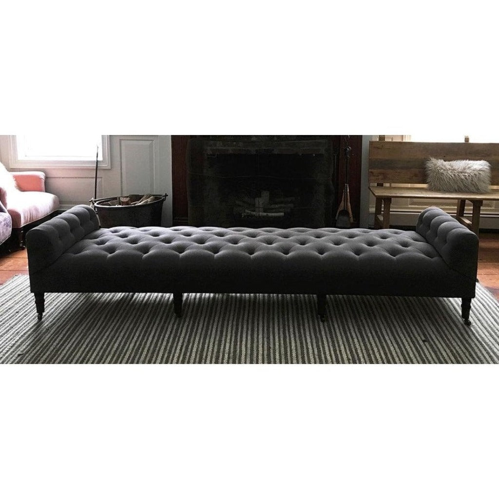 "John Derian 108"" Field Bench in Vintage Steel by Cisco Homecisco"