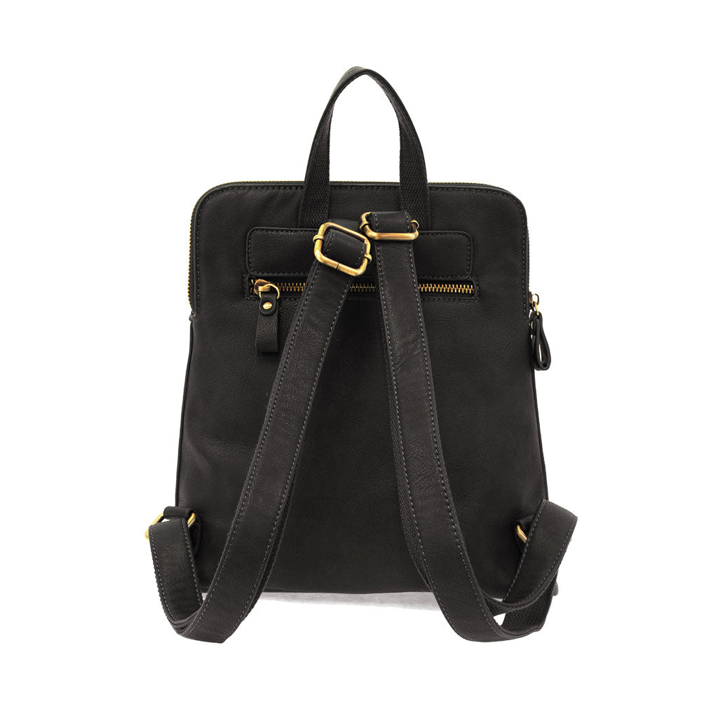 Vegan Leather Julia Backpack in Black