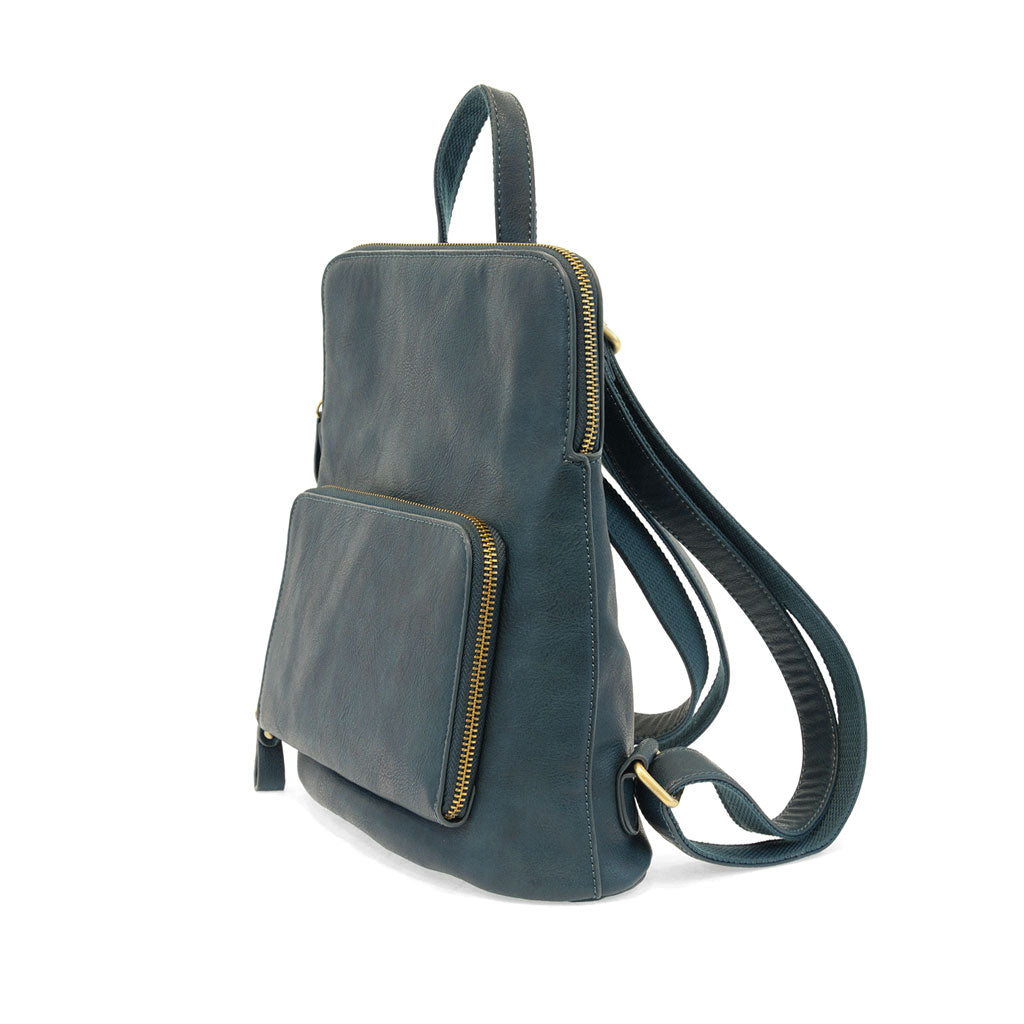 Vegan Leather Julia Backpack in Peacock