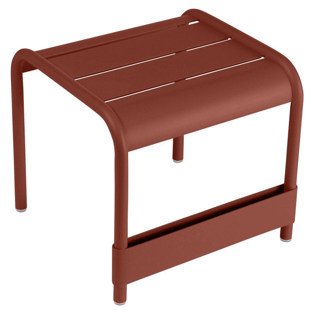 Fermob Luxembourg Outdoor Small Low Table in Red Ochre