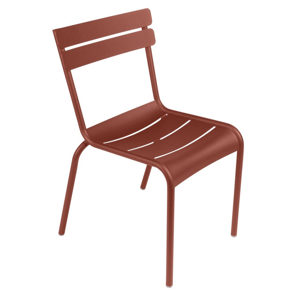Fermob Luxembourg Outdoor Stackable Side Chair in Red Ochre