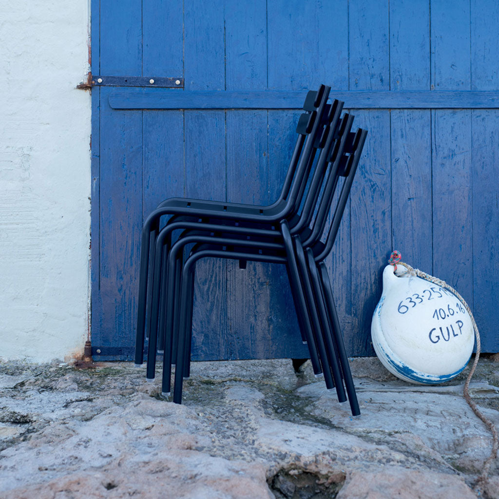 Fermob Luxembourg Outdoor Stackable Side Chair in Liquorice