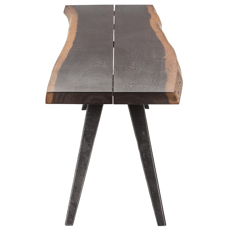 "Nelson 75"" Dining Bench in Seared Black"