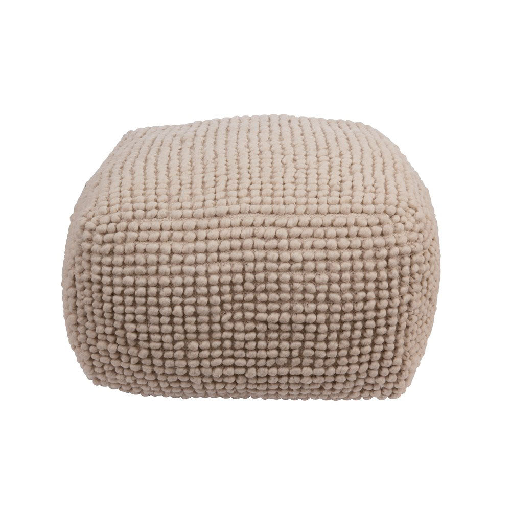 New Zealand Wool Pouf in Natural
