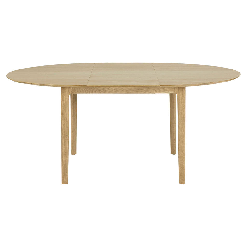 "Oak Bok 51"" Oiled Oak Round Extendable Dining Table"