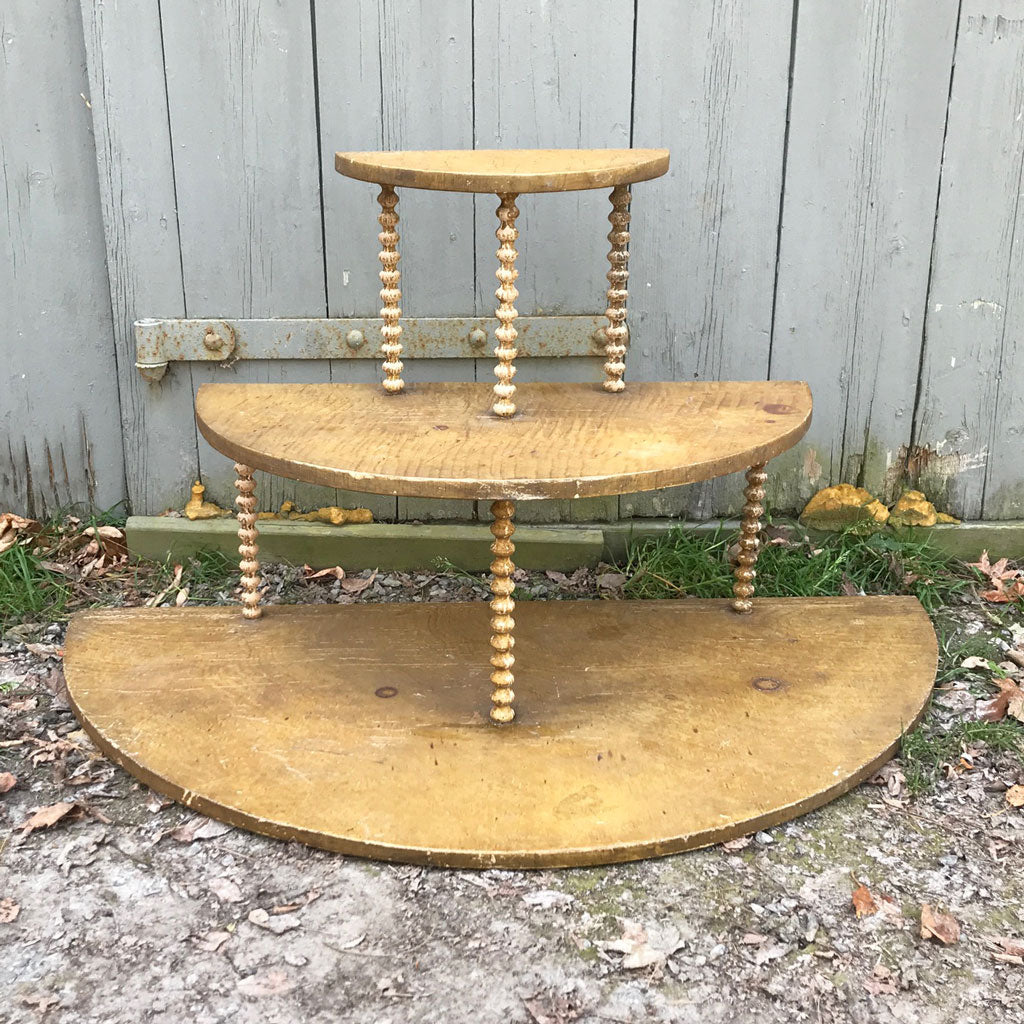 Vintage 1800s Grain Painted Three Tier Stand/Riser Very Unusual