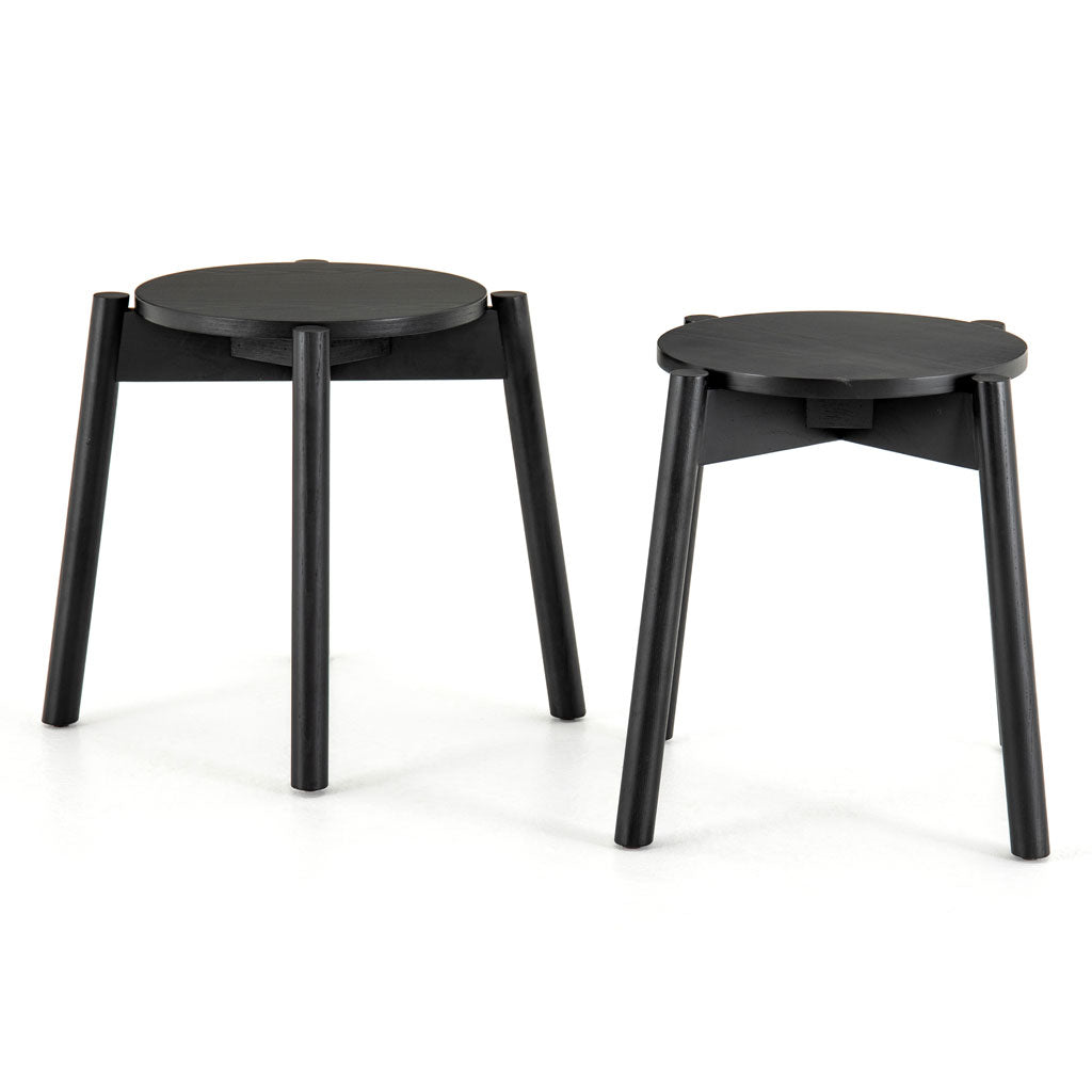 Parker Accent Stools, Set of Two in Black