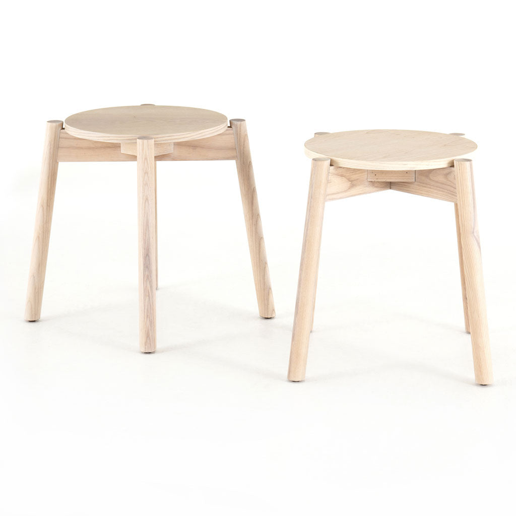 Parker Accent Stools, Set of Two in Natural