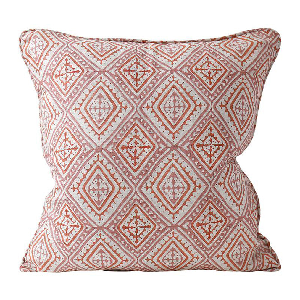 Havana Guava Linen Pillow Cover w/ Down Filler
