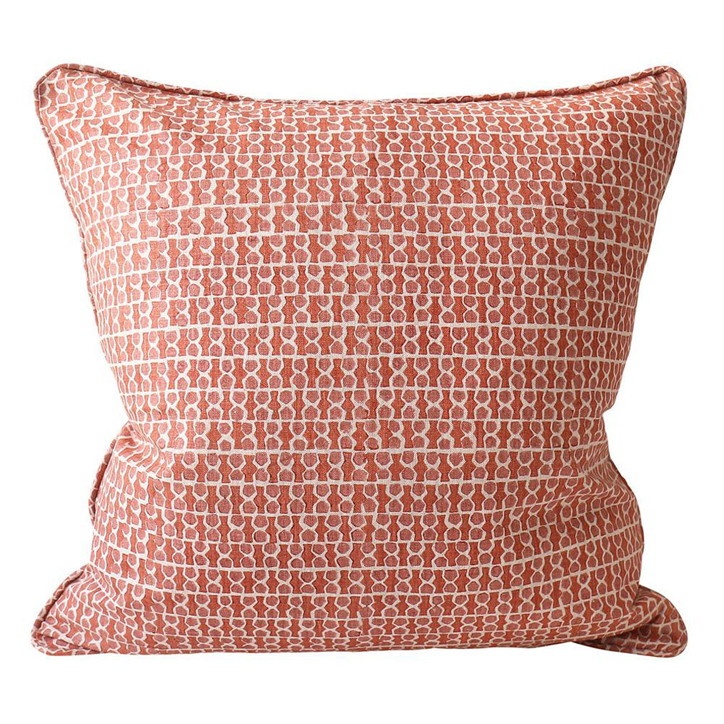 Jali Guava Linen Pillow Cover w/ Down Filler