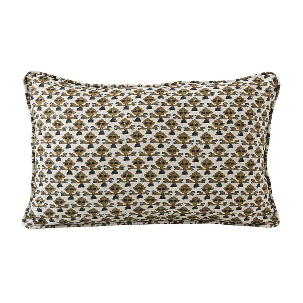 Montenegro Tobacco Linen Pillow Cover w/ Down Filler