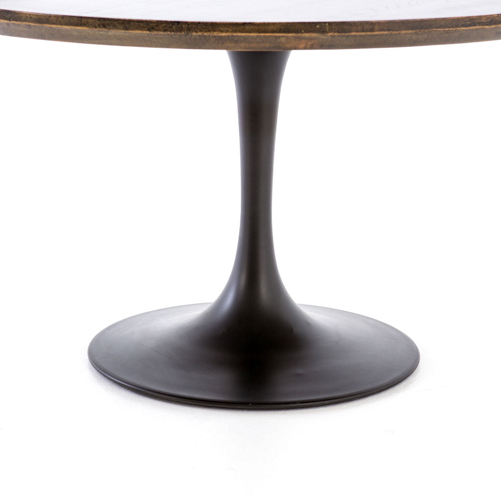 "Pilu 55"" Round Dining Table in English Brown"