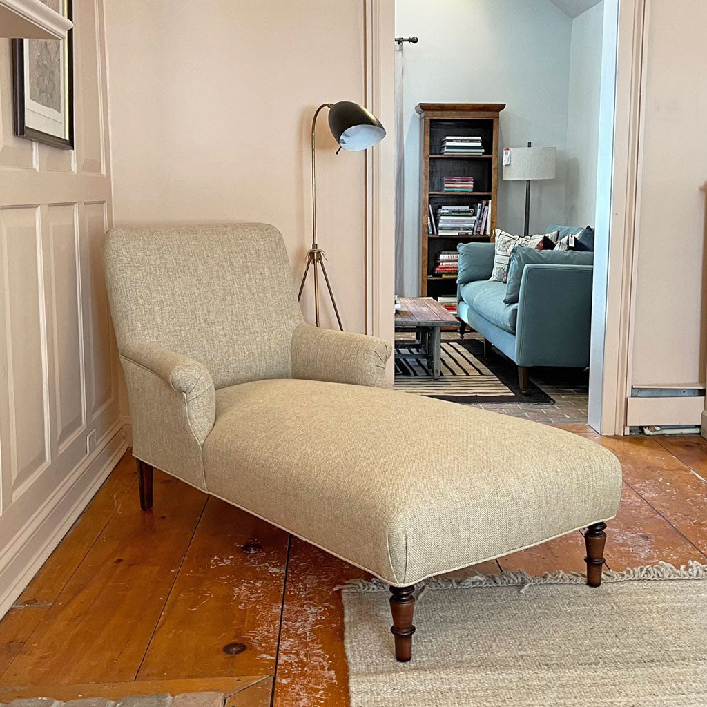 John Derian for Cisco Home Pond Chaise Lounge in Bellamy Oatmeal