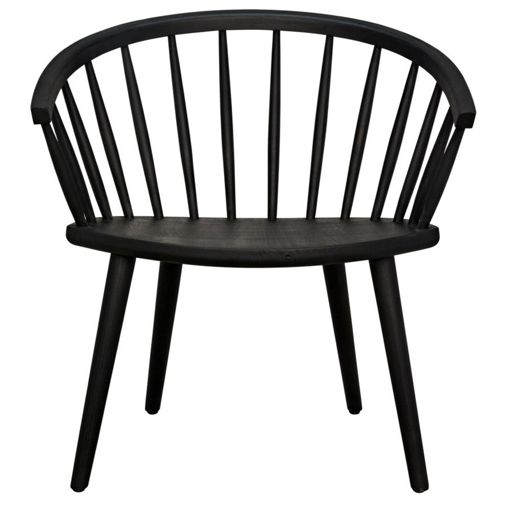 Porter Chair in Charcoal Black
