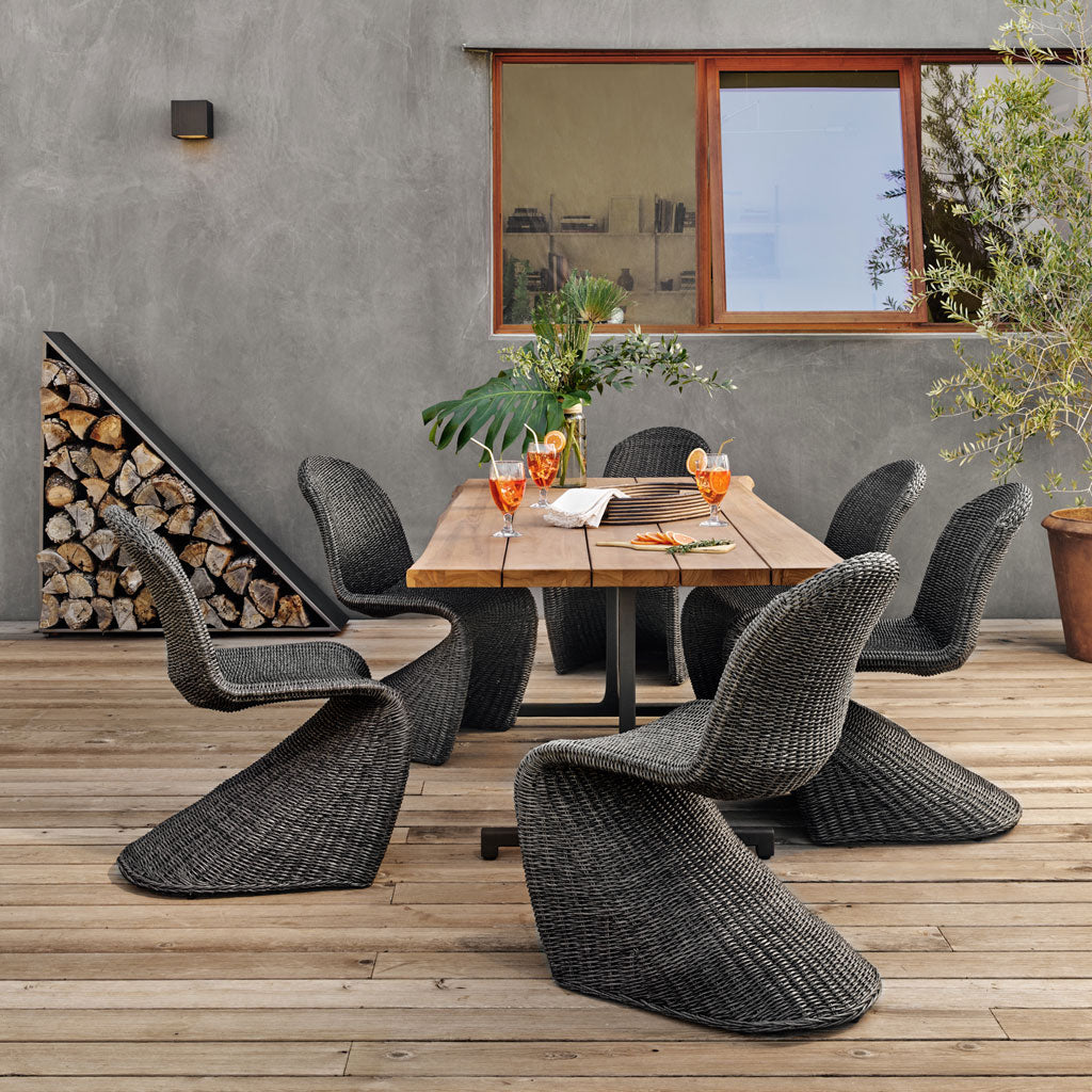 Piper Indoor/Outdoor Dining Chair in Coal