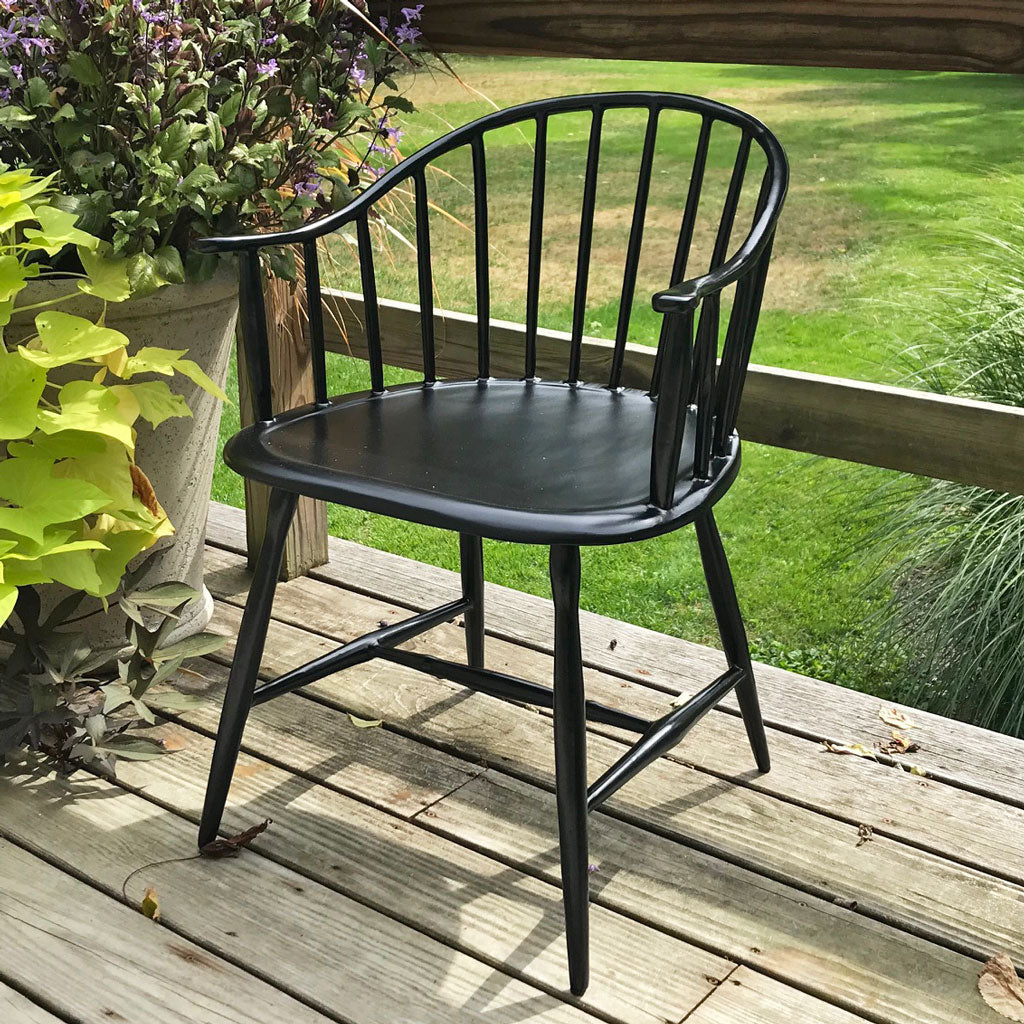 Recycled Aluminum Indoor/Outdoor Windsor Chair w/ Low Back