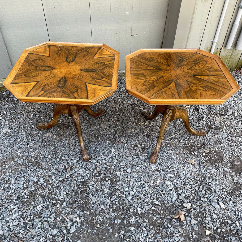Vintage Pair of Rosewood Side Tables