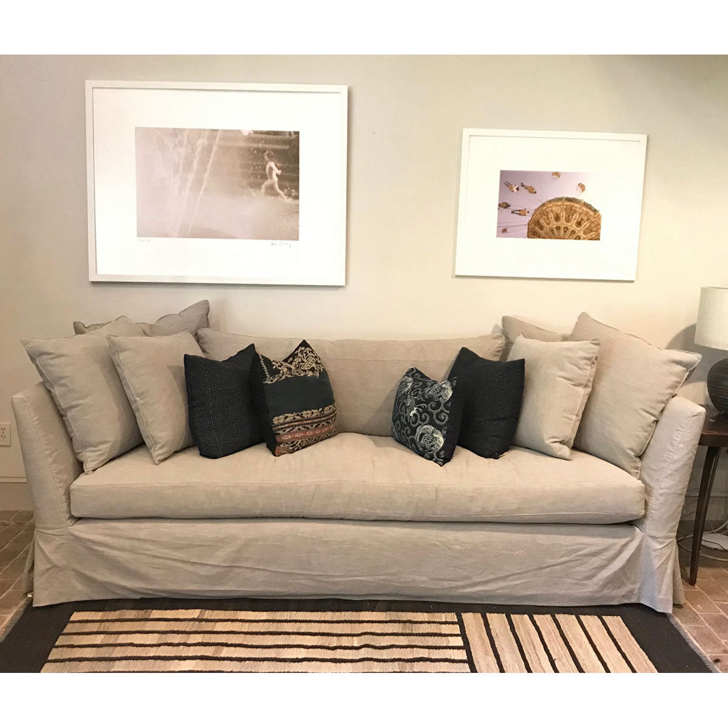 "Seda 100"" Sofa in Organic Cotton Molino Fog w/ Down Blend Cushions"