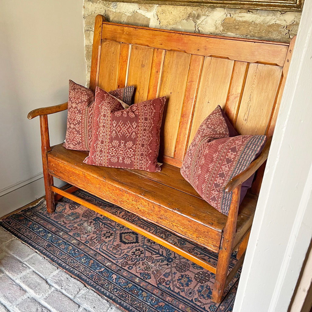 Vintage 18th Century Settle Bench