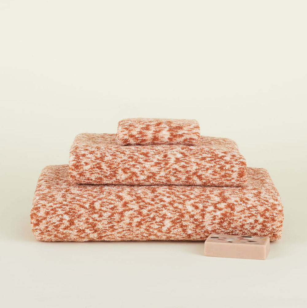 Hawkins, NY Space Dye Terry Towels in Blush