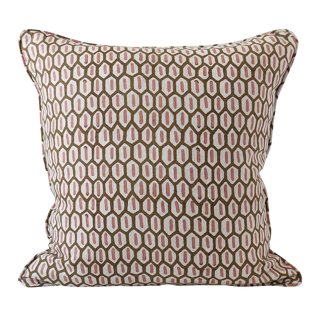 Tapi Musk Linen Pillow Cover w/ Down Filler